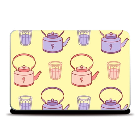 Abstract Teapot & tea cup  Laptop Skins | Artist : Nishit Shah