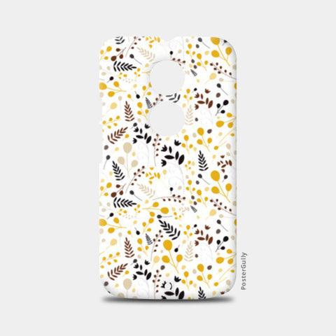Floral seamless pattern on yellow Moto X2 Cases | Artist : Designerchennai