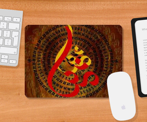 Ohm Red Mousepad | Artist : Rupam Shah