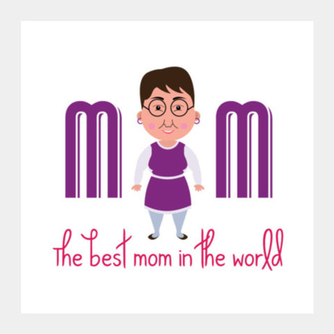 Cartoon Mother Square Art Prints PosterGully Specials