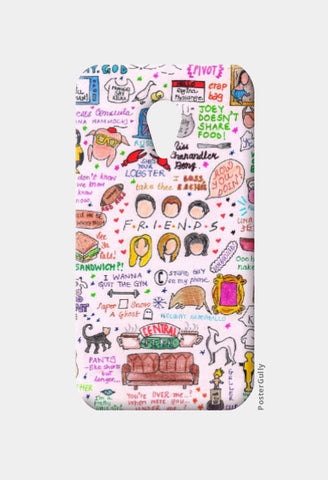 Moto G2 Cases, Friends Doodle Moto G2 Case | Artist: Keya Shah, - PosterGully
