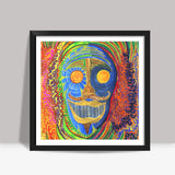 The Face of the श्रमण Square Art Prints | Artist : Luke's Art Voyage