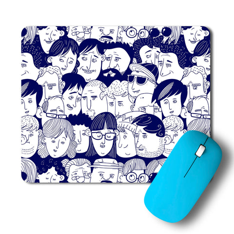 People Pattern Artwork Mousepad
