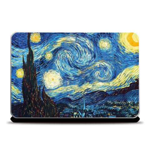 The Starry Night by Vincent Van Gogh  Laptop Skins | Artist : GABAMBO
