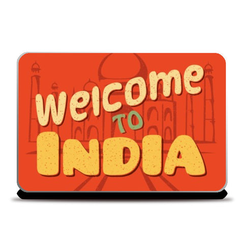 Laptop Skins, Welcome to India retro Laptop Skin | Artist : Abhishek Kanungo, - PosterGully