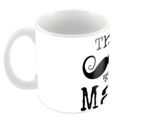 The Mooooch Man Coffee Mugs | Artist : Janeesha Doshi