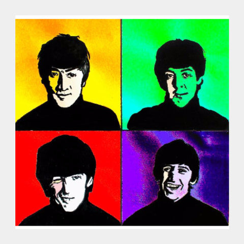 Square Art Prints, The Beatles Square Art | Pritika Uppal, - PosterGully