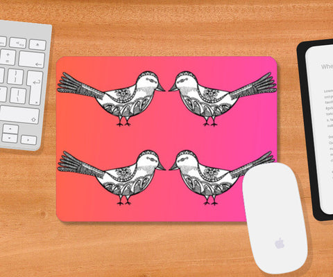 Bird Patterns Mousepad | Artist : Amulya Jayapal