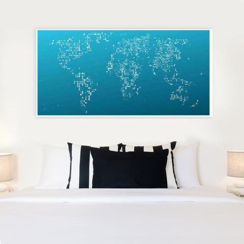 Blue white world map door poster artist inderpreet singh blue white world map door poster artist inderpreet singh gumiabroncs Image collections