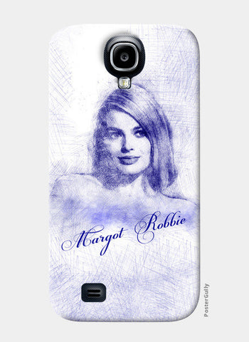 Margot Robbie pen sketch Samsung S4 Cases | Artist : Abhishek Faujdar