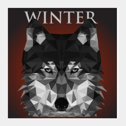 Square Art Prints, HOUSE STARK  Square Art Prints Square Art Prints | Artist : Vedant Sharma, - PosterGully