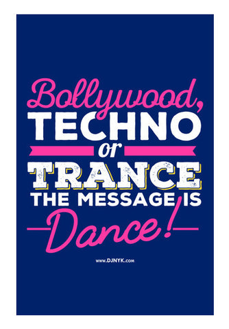 Wall Art, Message is Dance Wall Art | DJ NYK, - PosterGully