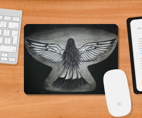 The Girl With Wings Mousepad | Artist : Parvathi Arun