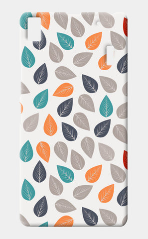 Seamless pattern with multicolored leaf on light background Lenovo A7000 Cases | Artist : Designerchennai