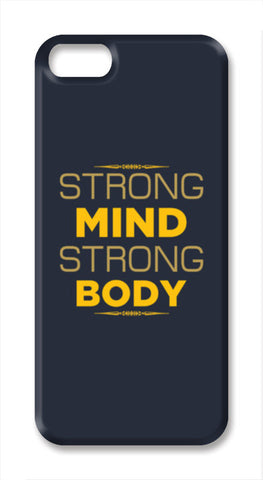 Strong Mind Strong Body iPhone SE Cases | Artist : Designerchennai