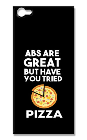 ABS ARE GREAT BUT HAVE YOUT TRIED PIZZA Vivo V5 Cases | Artist : Manju Nk