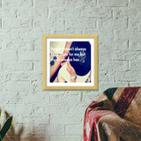 Music, My Soulmate Premium Square Italian Wooden Frames | Artist : PUJA KUMAR