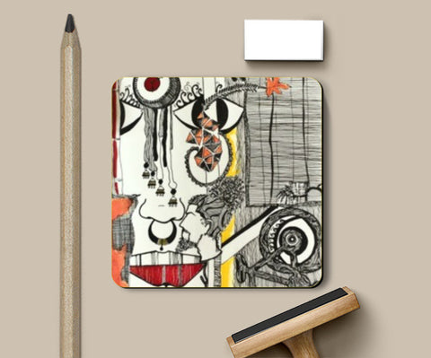 Coasters, lay the bold vibes! Coasters | Artist : Anvita Gupta, - PosterGully