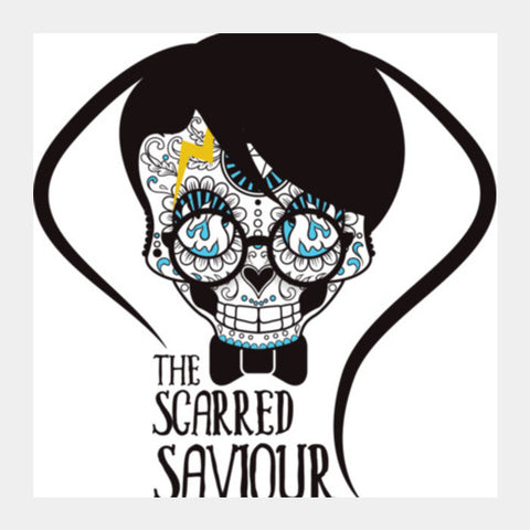 The Scarred Saviour-Harry Potter Square Art Prints | Artist : Abhay Sigh Sengar