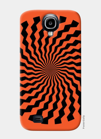 Samsung S4 Cases, ILLUSION-ORANGE Samsung S4 Cases | Artist : Sonia Punyani, - PosterGully