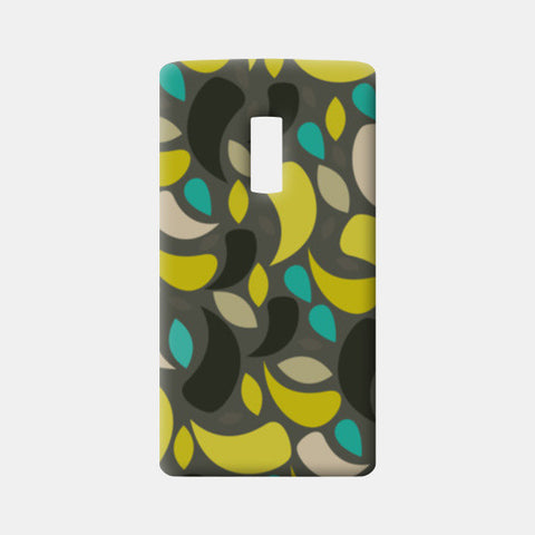 Seamless leaf geometric shapes One Plus Two Cases | Artist : Designerchennai