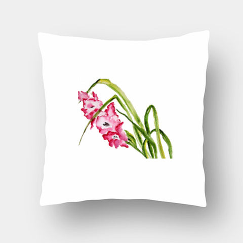 Cushion Covers, Gladiolus Flower Cushion Cover l Artist: Seema Hooda, - PosterGully