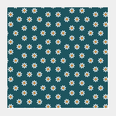 Blue And Yellow Floral Square Art Prints PosterGully Specials