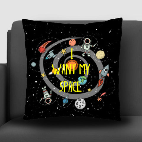 i want my space Cushion Covers | Artist : Manju Nk