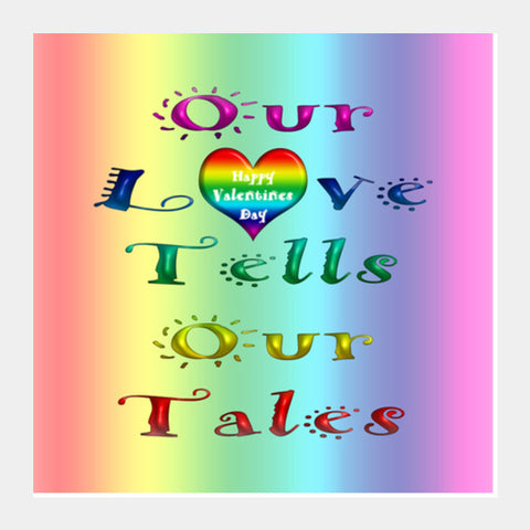 Square Art Prints, Rainbow Love Tales_1 Square Art Prints | Artist : Natraj Vemuri, - PosterGully