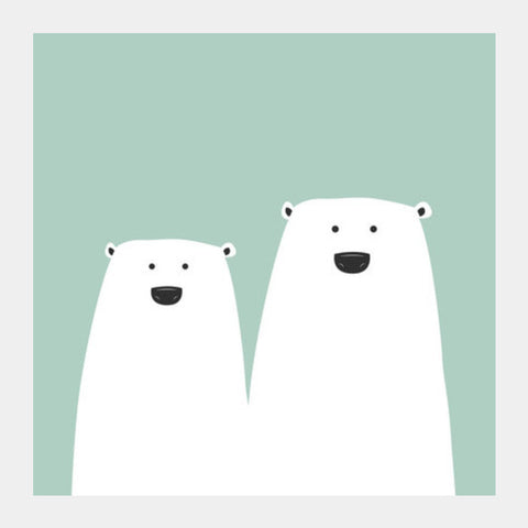 Polar Bear Square Art Prints | Artist : Arpita Gogoi
