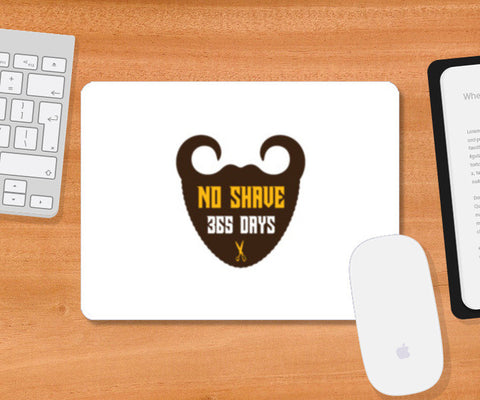 Mustache and Beard No Shave Mousepad | Artist : Mani Selvam