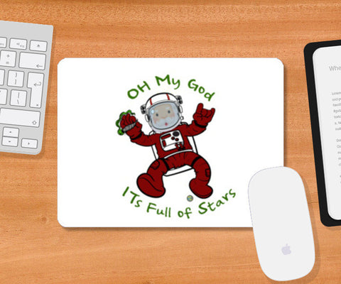 Mousepad, Astro Claus Mousepad | Artist : Bum from the Bay, - PosterGully