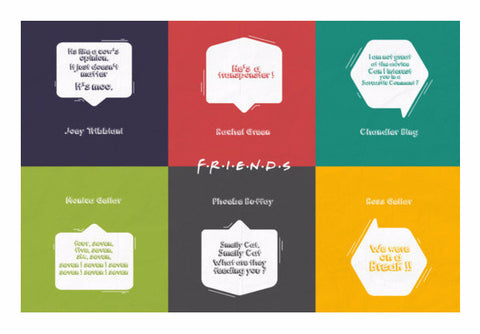Friends TV Series Wall Art | Artist : Arif Ahmad