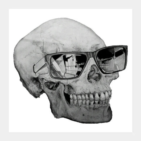 Square Art Prints, Cool Skull | Shashank Sharma, - PosterGully