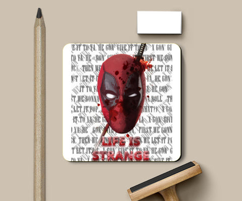 Deadpool 's Life is strange Coasters | Artist : Samar Khan