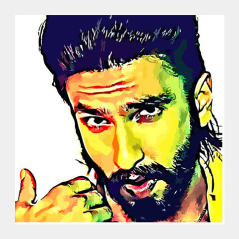 Square Art Prints, Ranveer Singh Square Art Prints | Artist : Delusion, - PosterGully