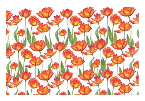 PosterGully Specials, Painted Tulip Flowers Spring Garden Botanical Background Pattern Wall Art  | Artist : Seema Hooda, - PosterGully