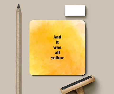 COLDPLAY : YELLOW Coasters | Artist : Kau.Vish