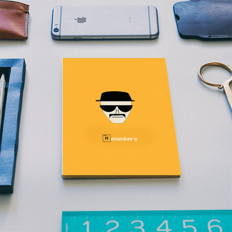 Breaking Bad's Heisenberg, I am the one who knocks, Notebook Notebook | Artist : Nihal Dad Khan