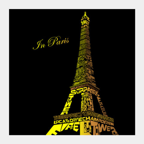 in paris Square Art Prints | Artist : Fariya Arts