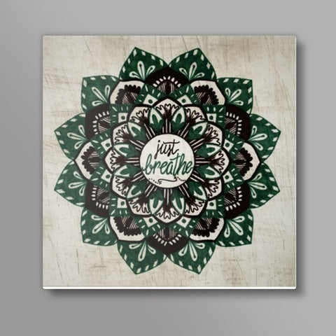 Just Breathe Mandala Metal Prints | Artist : Gursimran Kaur