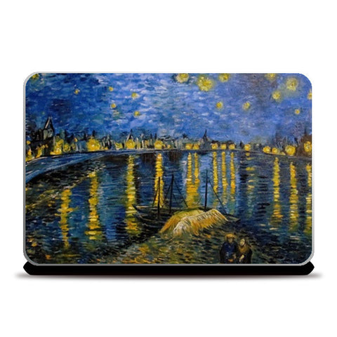 Starry night over the Rhone -Van Gogh Laptop Skins | Artist : Sukanya Chakraborty