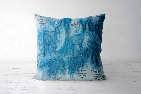 Harry Potter Patronus | Oil Pastel Art Cushion Covers | Artist : Nandini Rawat