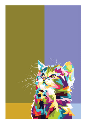 Colorfully Cat Hope Wall Art | Artist : Inderpreet Singh