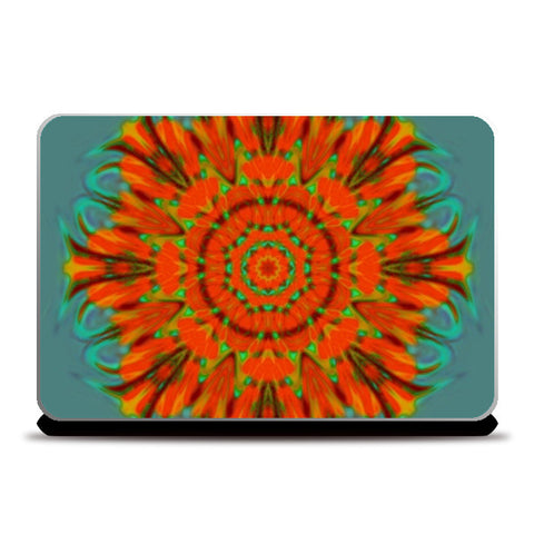 Laptop Skins, Orange kaleido Laptop Skins | Artist : CK GANDHI, - PosterGully