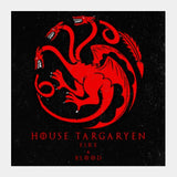 Square Art Prints, House Targaryen - Game Of Thrones Square Art Prints | Artist : Gurmeet, - PosterGully