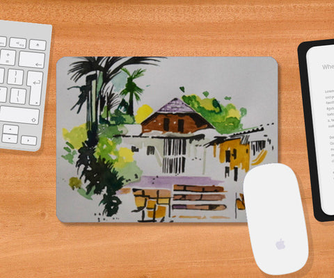 The Abandoned Hut Mousepad | Artist : Rahul Tanwar