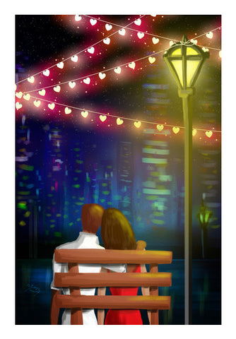 Bench Couple Art PosterGully Specials