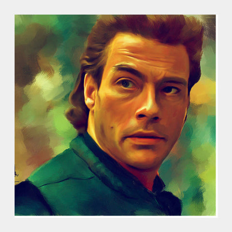 Jean Claude Van Damme Square Art Prints PosterGully Specials