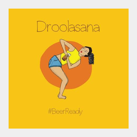 Beer Yoga Square Art Prints | Artist : Ayushi Teotia